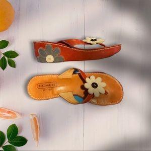 🌸RARE Coach Wedge Thong Sandals, sz 6